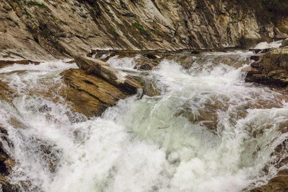 Водопадът отблизо