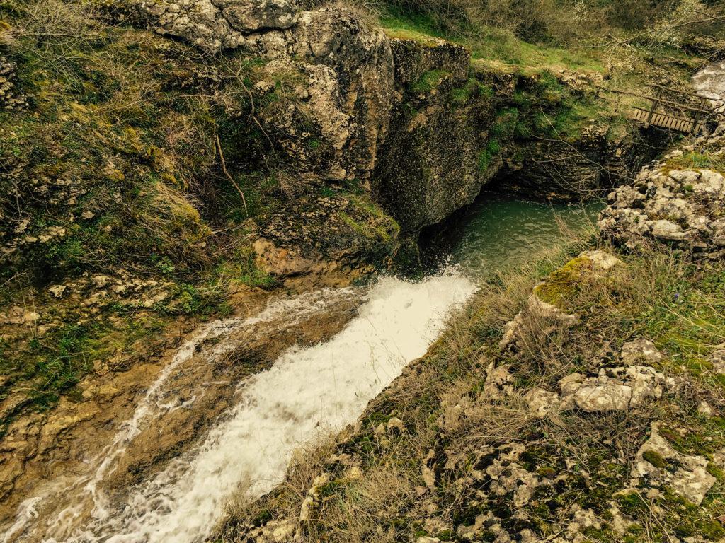 Зараповски водопад от горе